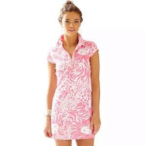 Lily Pulitzer Rayna Printed Polo Dress Pink XXS